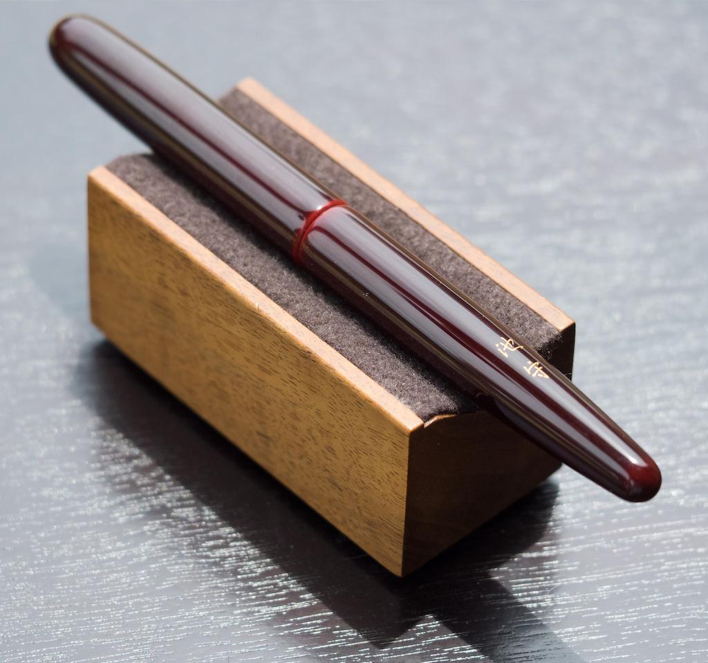 Nakaya Long Cigar in Aka-Tamenuri with Kanji and a Gold Zogan Review