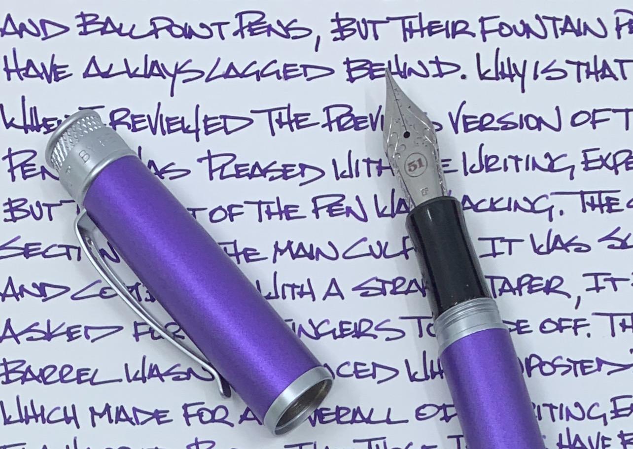 Retro 51 Tornado Fountain Pen Writing
