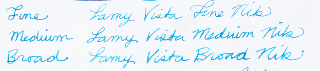 KWZ Standard Walks Over Vistula Ink Nib Sizes