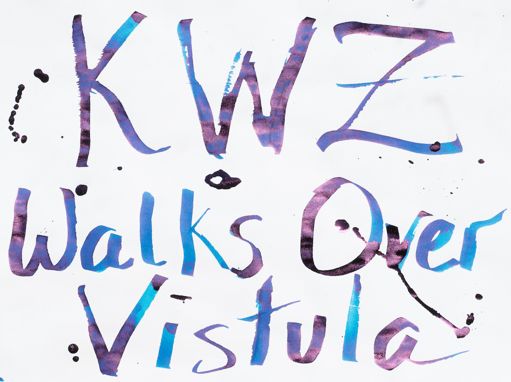 KWZ Standard Walks Over Vistula Ink Big Writing