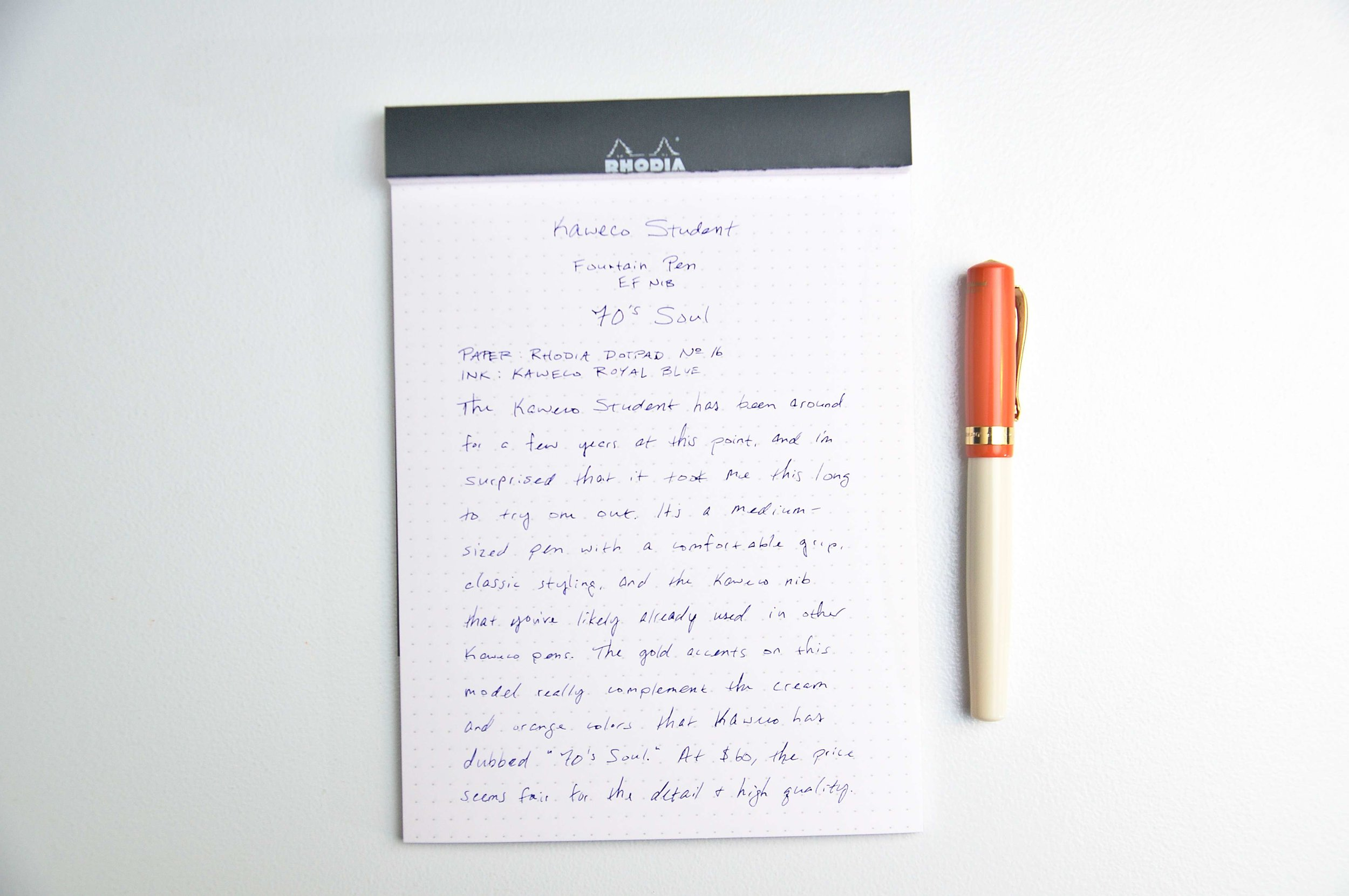 Kaweco Student Fountain Pen Writing