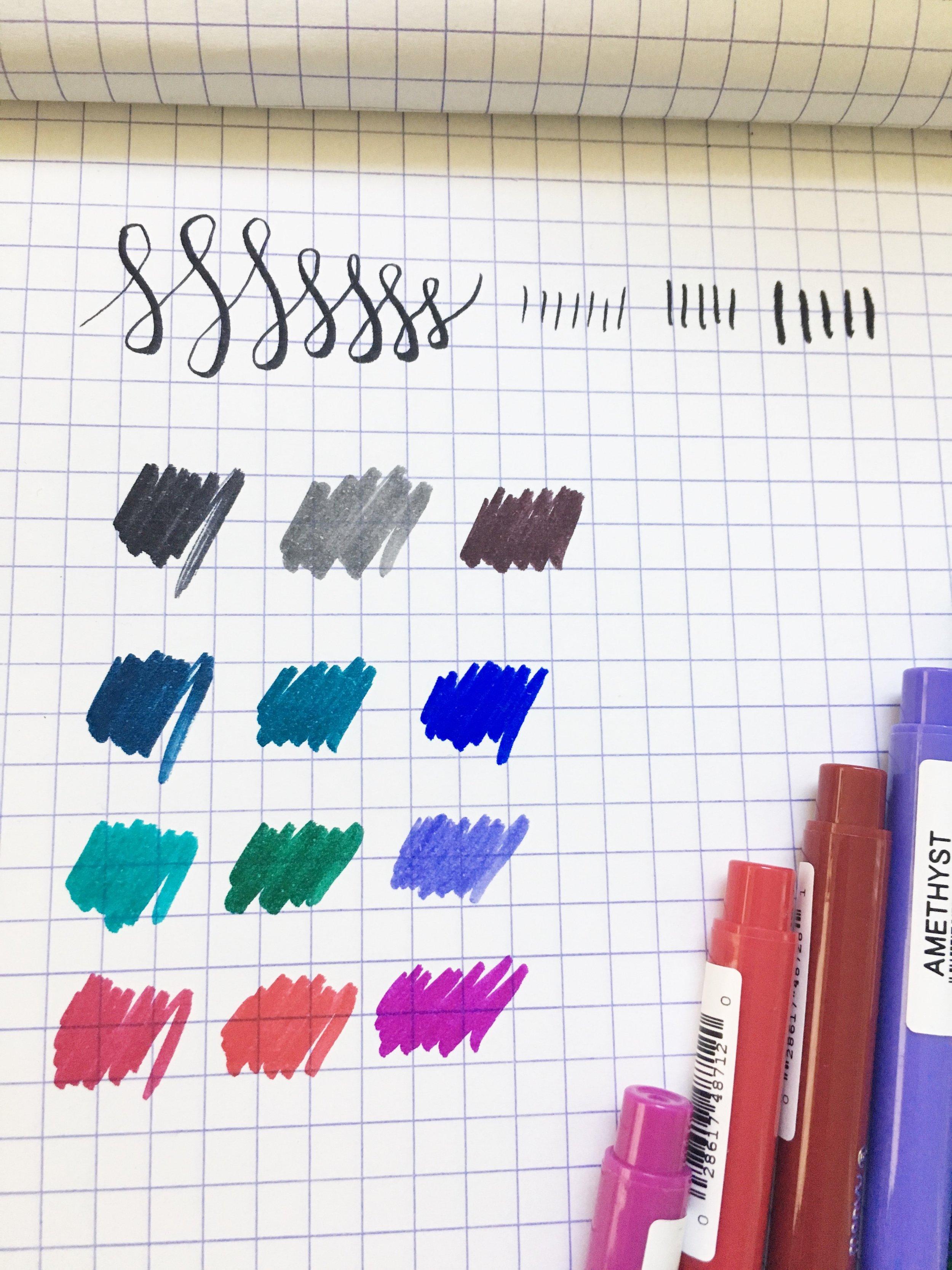 Marvy Le Pen Flex Brush Pen Writing