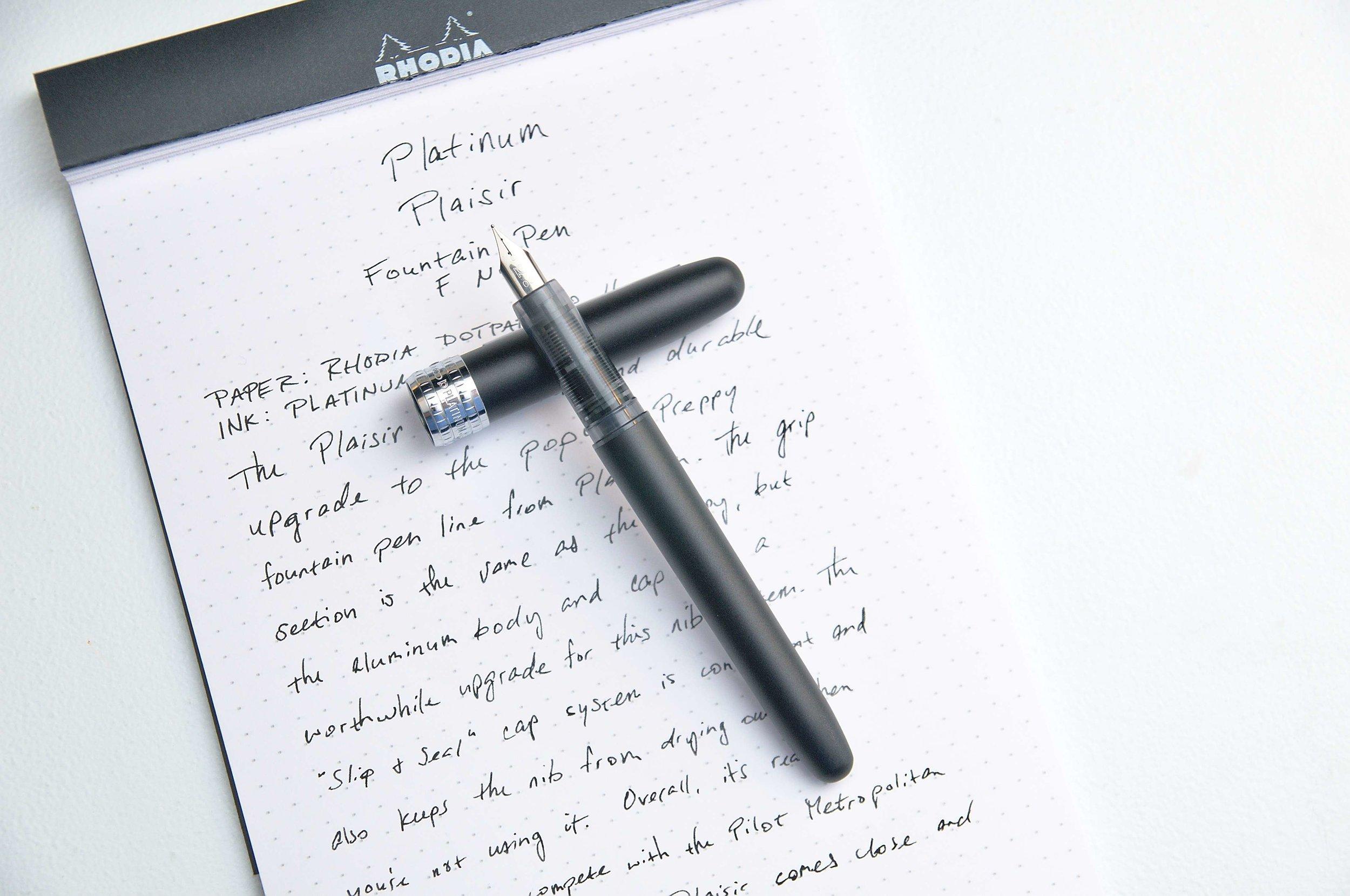 Platinum Plaisir Black Mist Fountain Pen Review