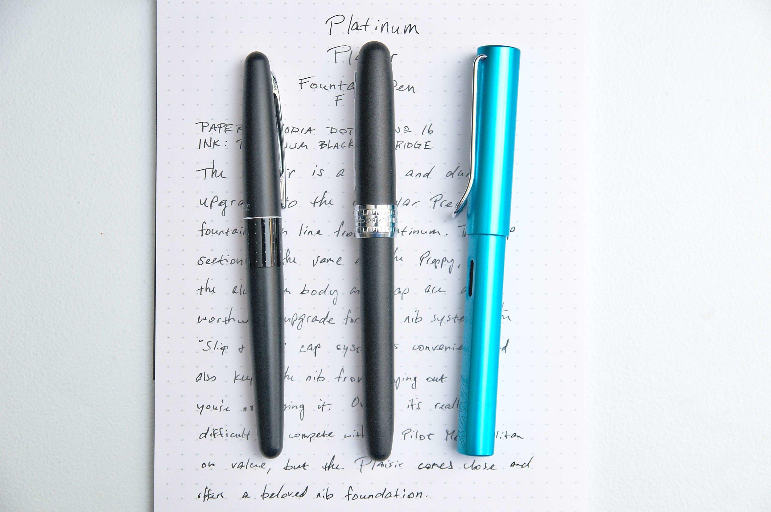 Platinum Plaisir Fountain Pen Comparison