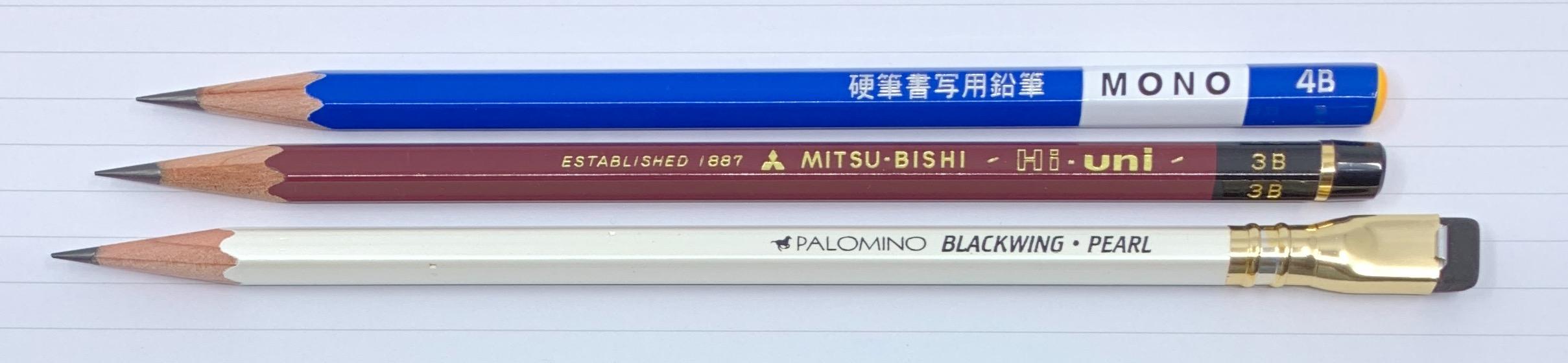 Tombow Mono KM-KKS 4B Pencil Comparison
