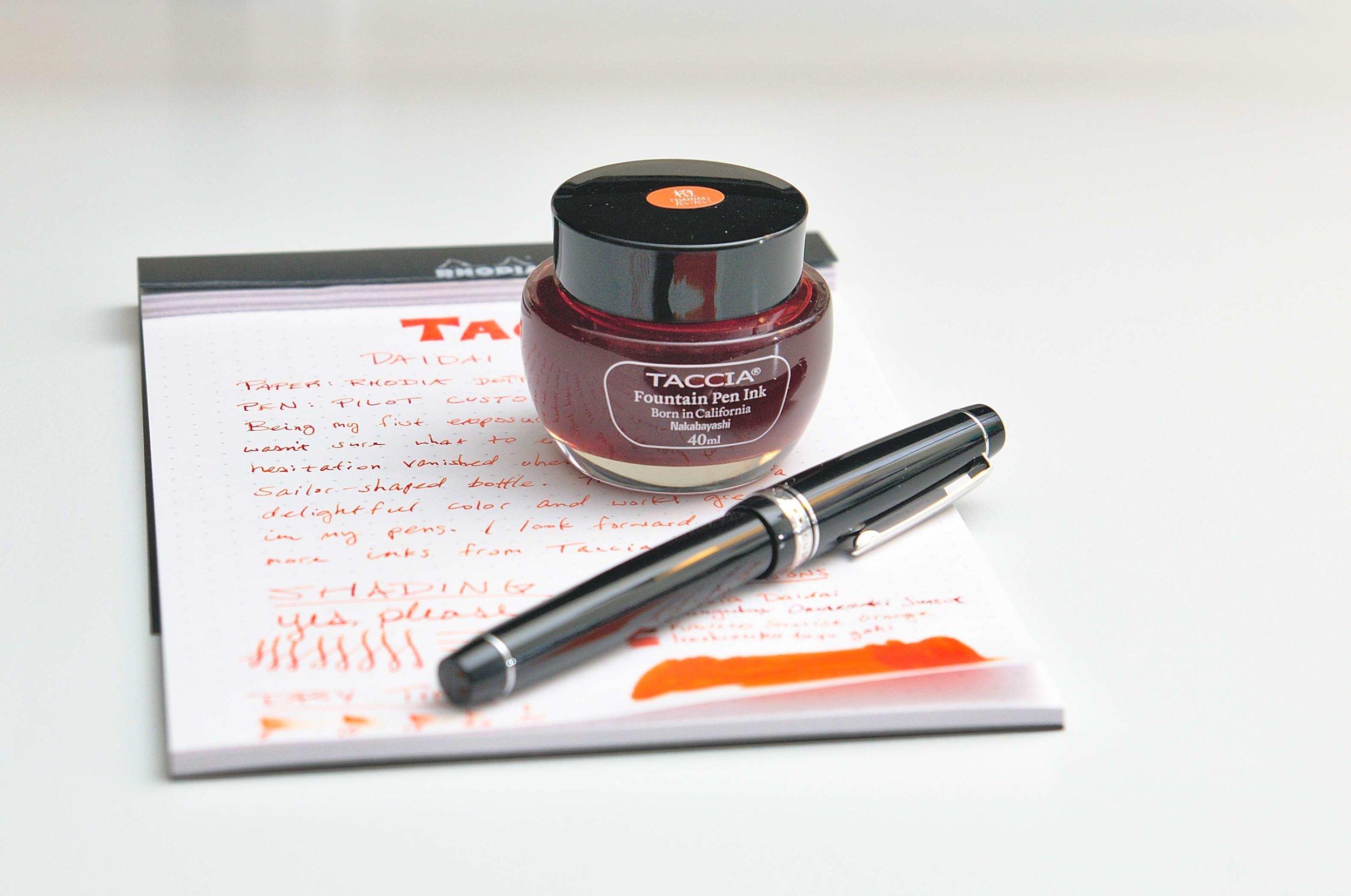 Taccia Daidai Orange Ink Review