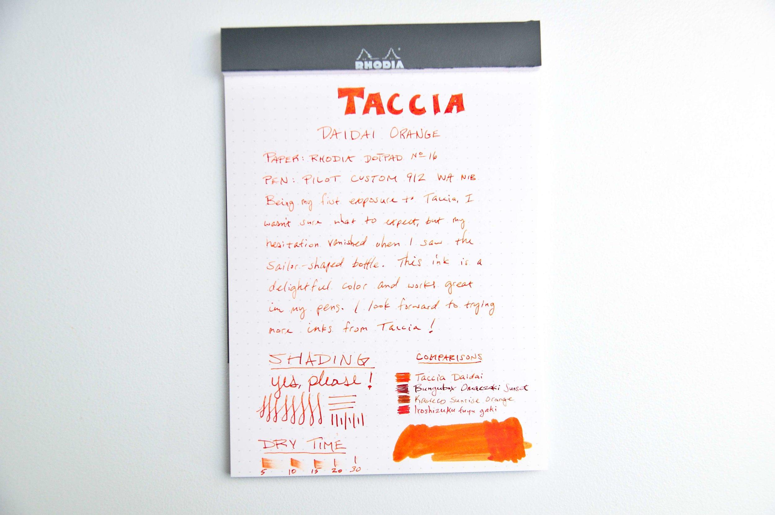 Taccia Daidai Review