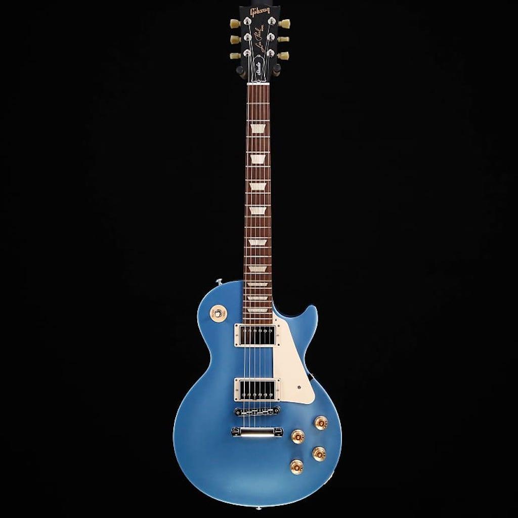 This is a Gibson Les Paul Studio 2016 T Pelham Blue Guitar. (image via    Reverb.com   )
