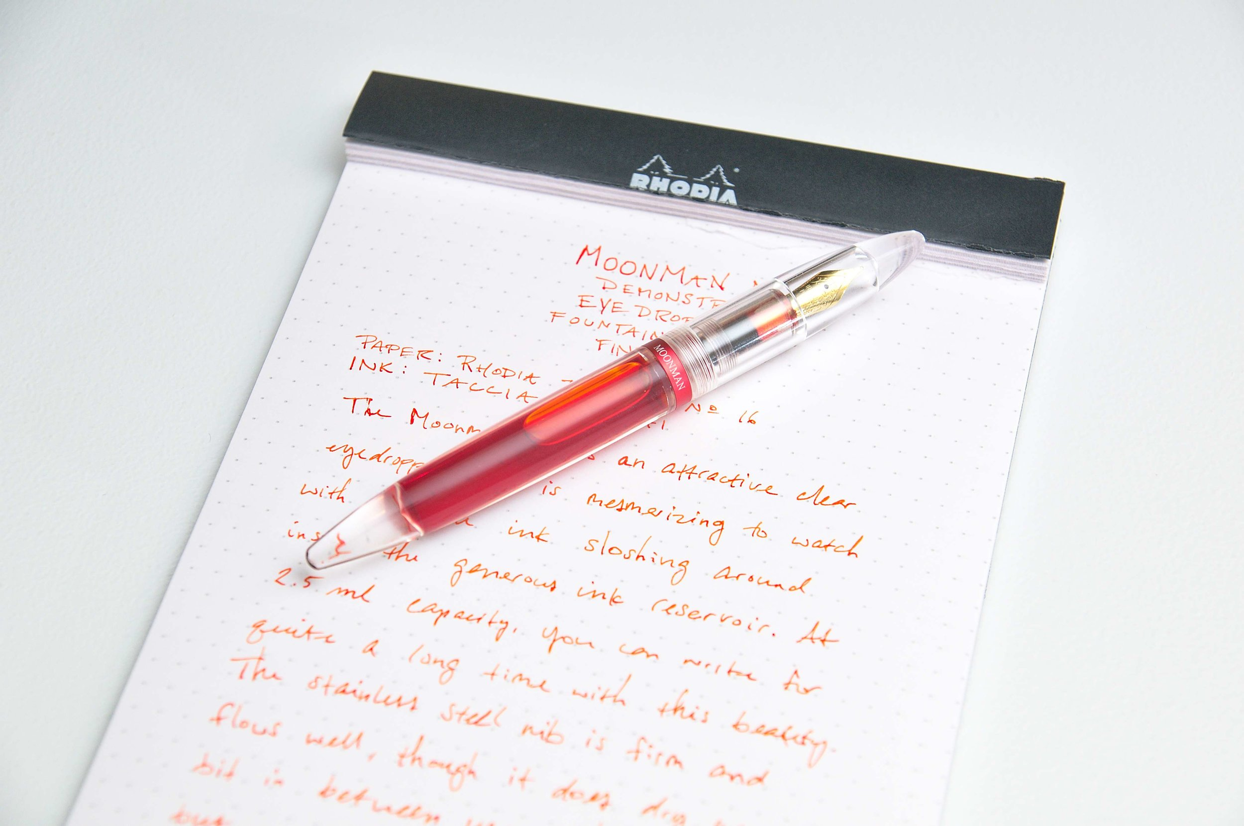 Moonman M2 Fountain Pen Writing