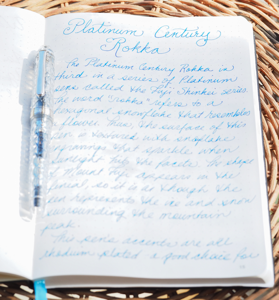 Platinum #3776 Century Rokka Writing