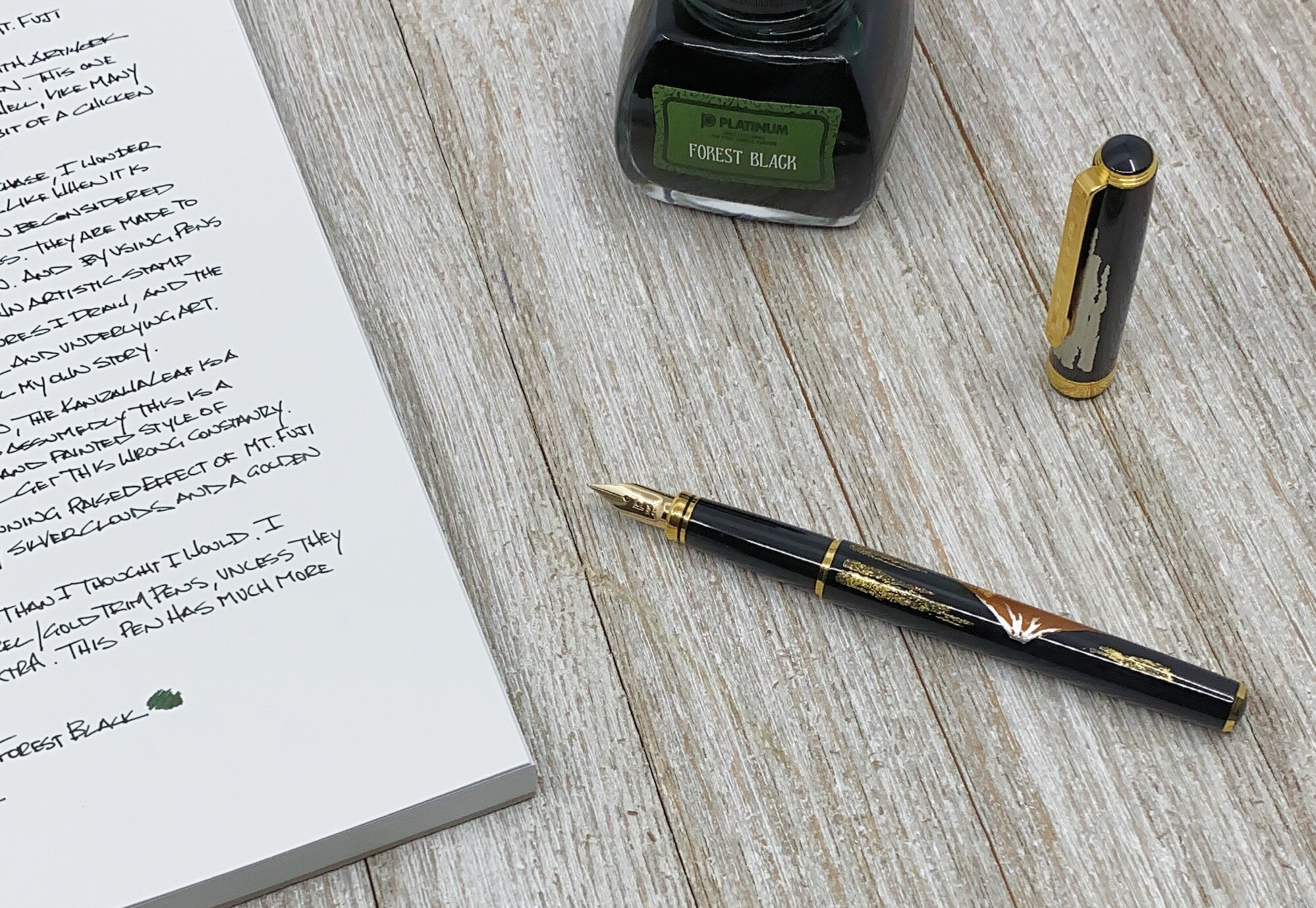 Platinum Kanazawa Leaf Fountain Pen Notebook