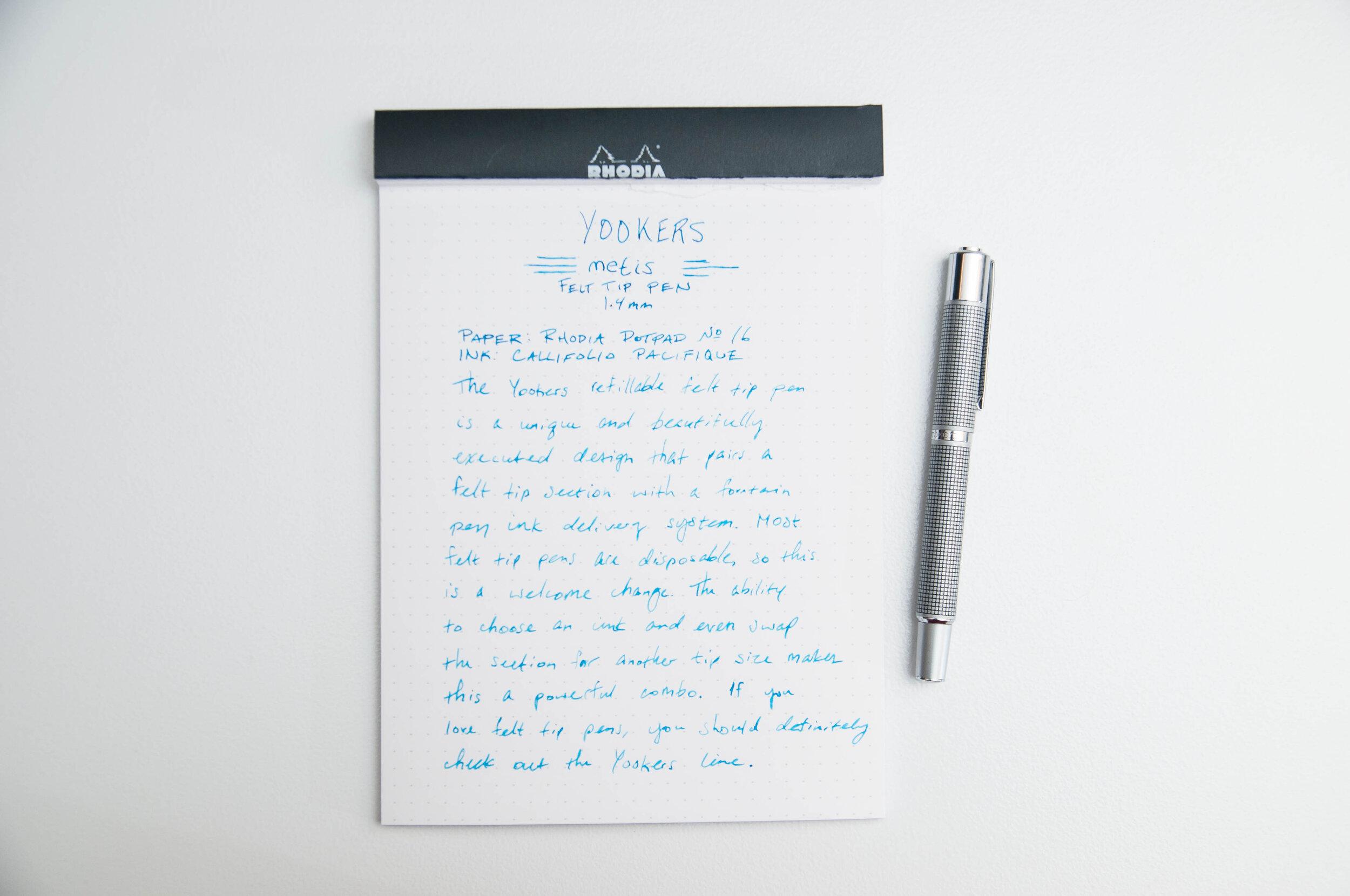 Yookers Metis Felt-tip Pen Writing