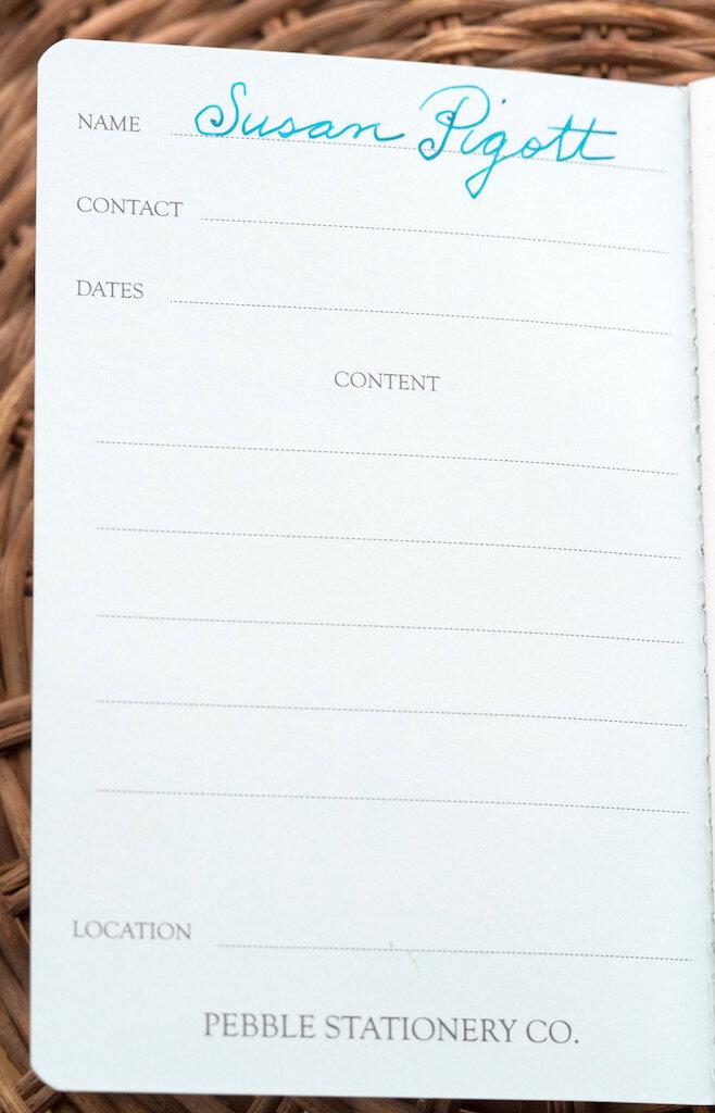 Pebble Stationery Co. Glacier Edition Pocket Notebook Inside Cover