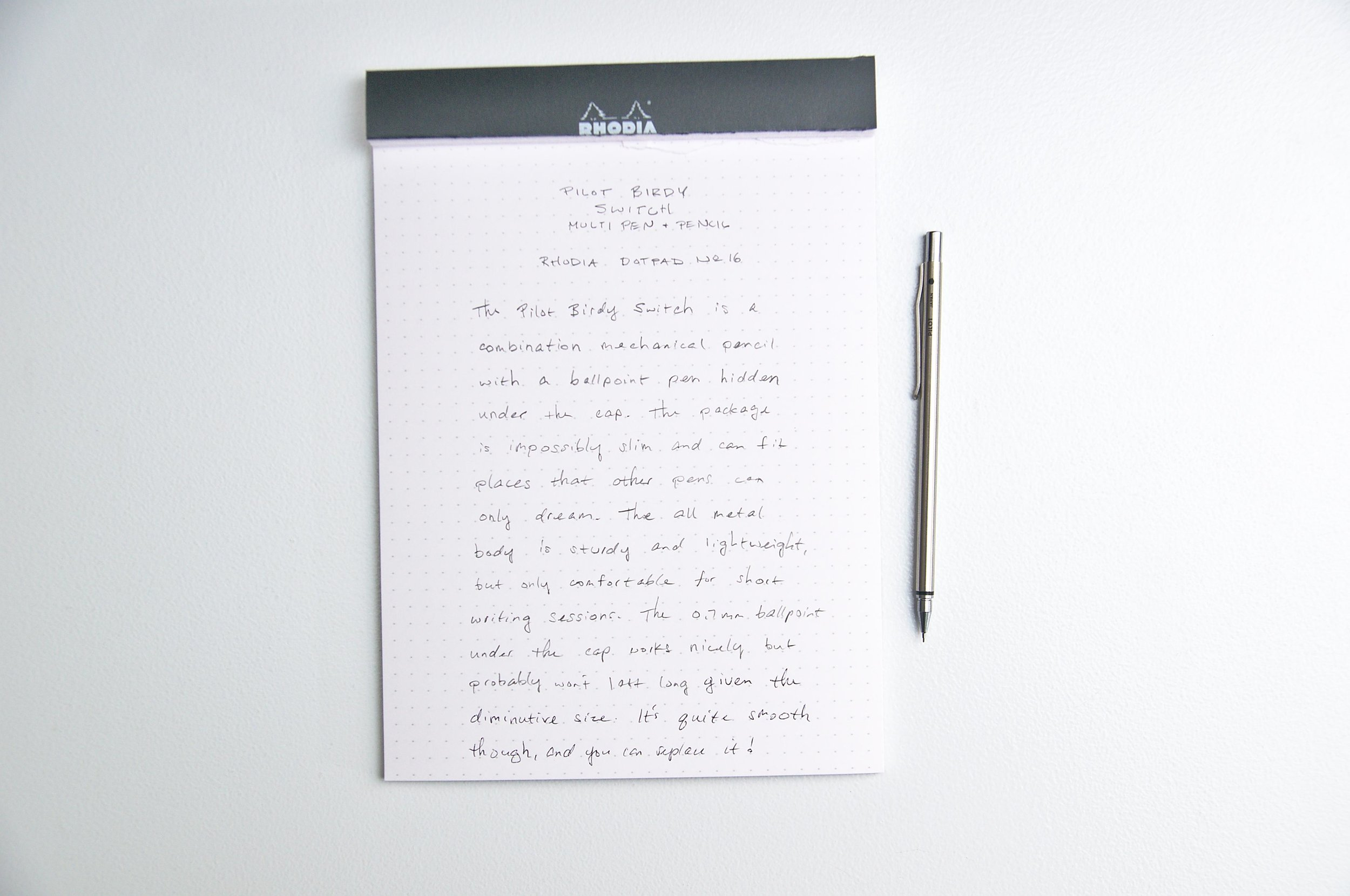 Pilot Birdy Switch Multi Pen(cil) Writing