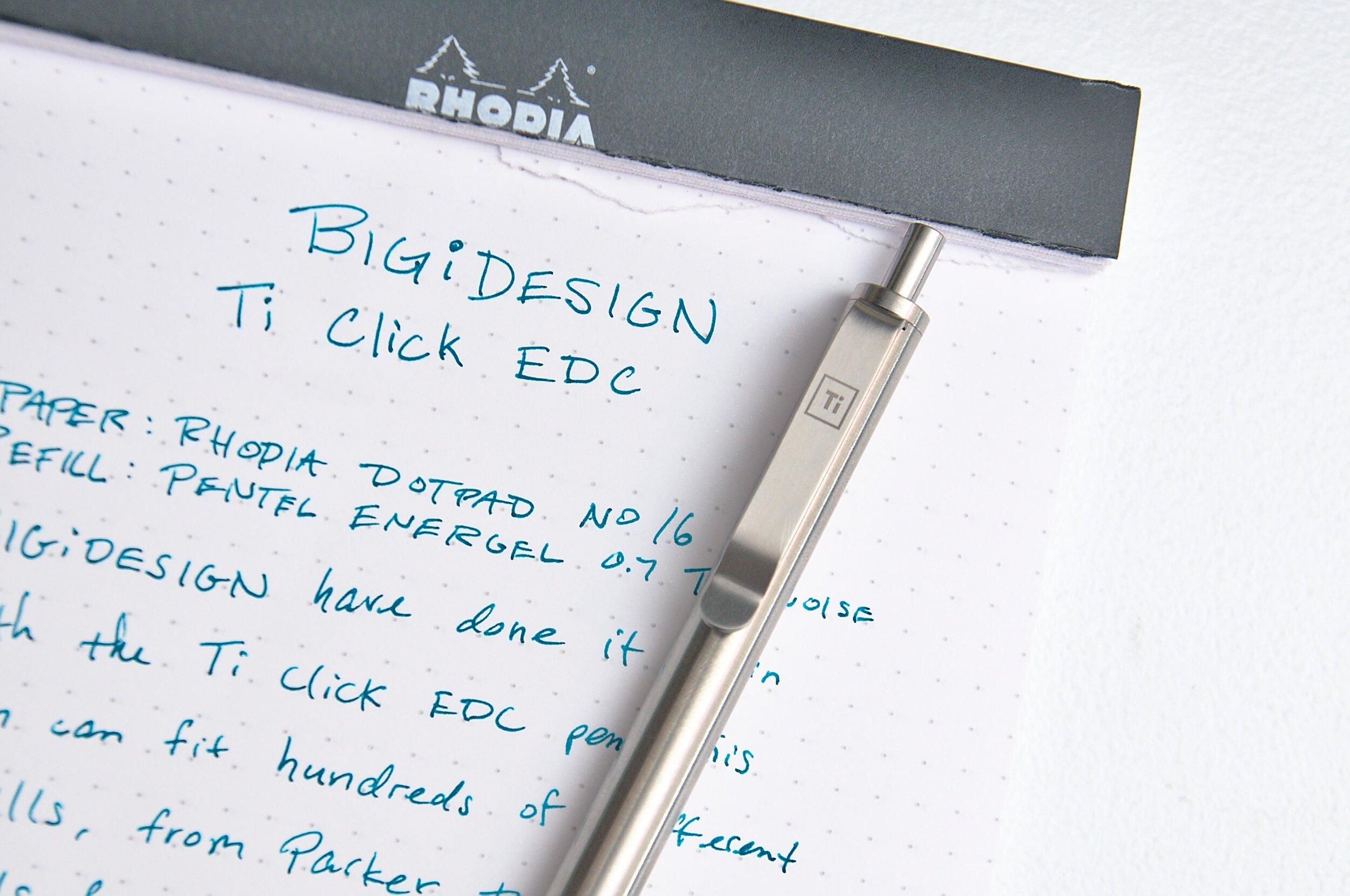 BIGiDESIGN Ti Click EDC Titanium Pen Clip
