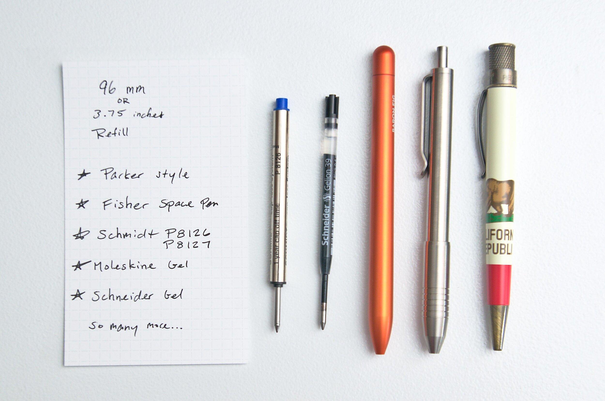 BIGiDESIGN Ti Click EDC Titanium Pen Refills