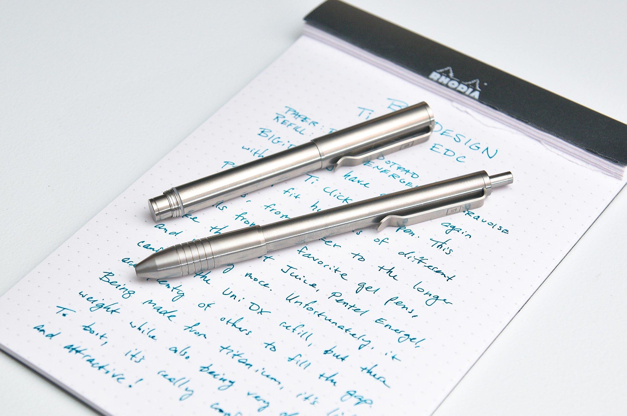 BIGiDESIGN Ti Click EDC Titanium Pen Comparison