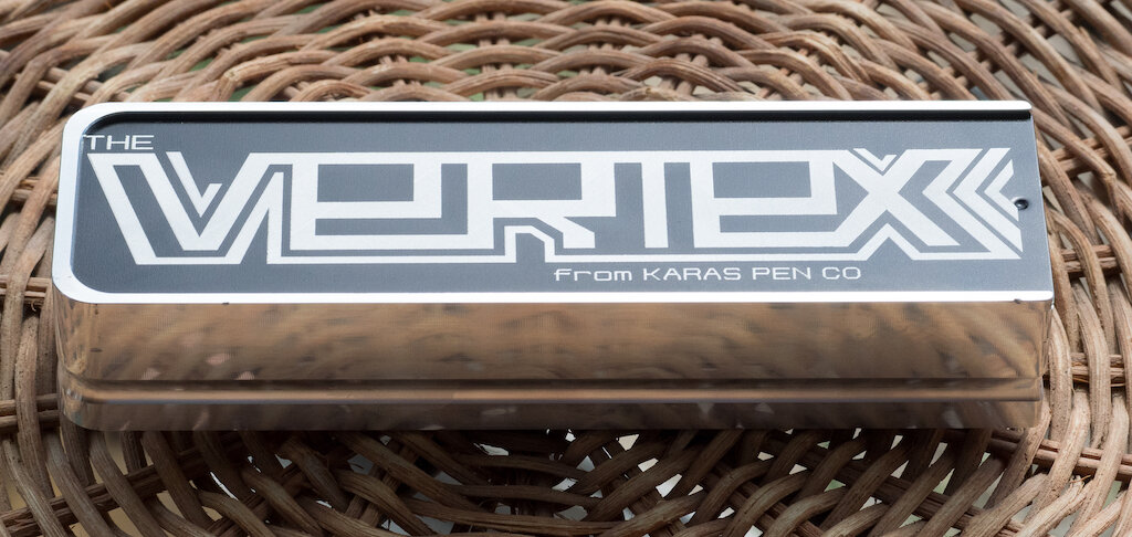 Karas Kustoms Vertex Fountain Pen Machined Box