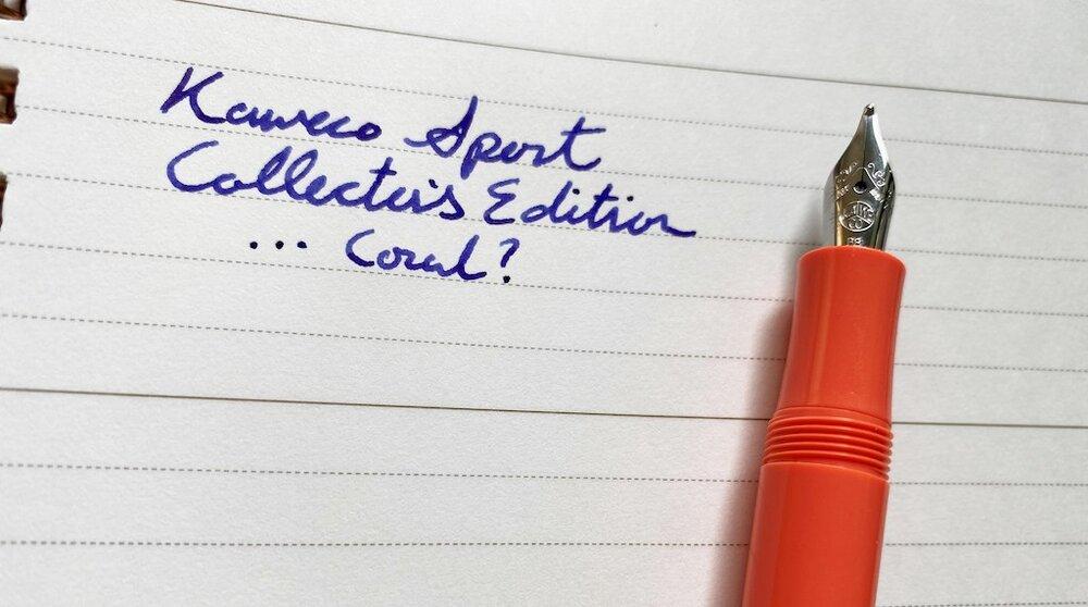 Kaweco Sport Coral Collectors Edition Writing