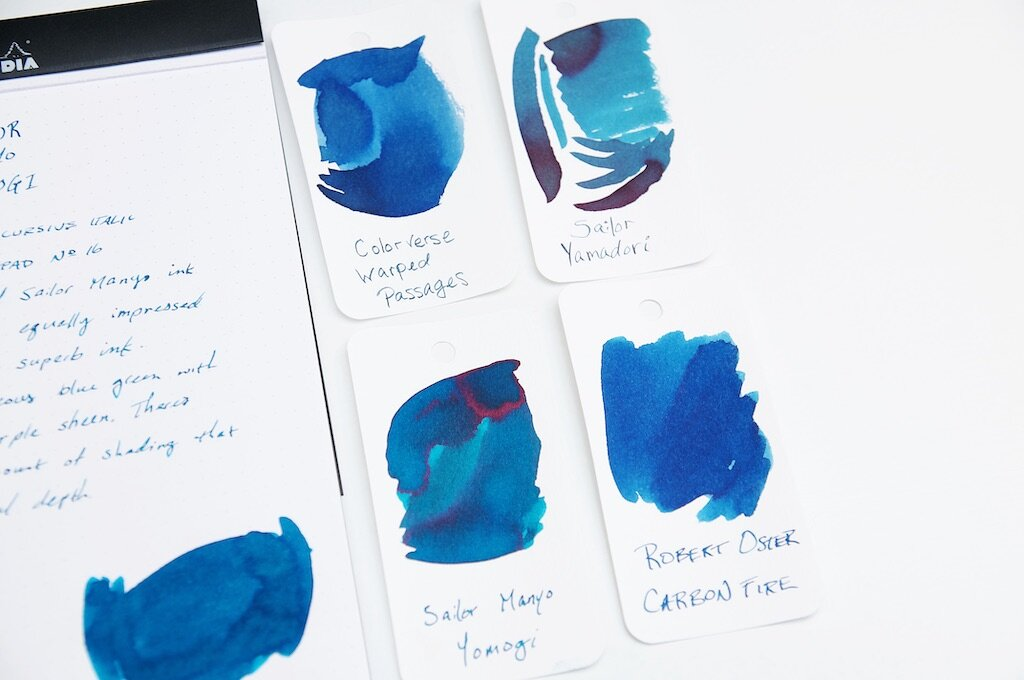 sailor manyo yomogi fountain pen ink review the pen addict