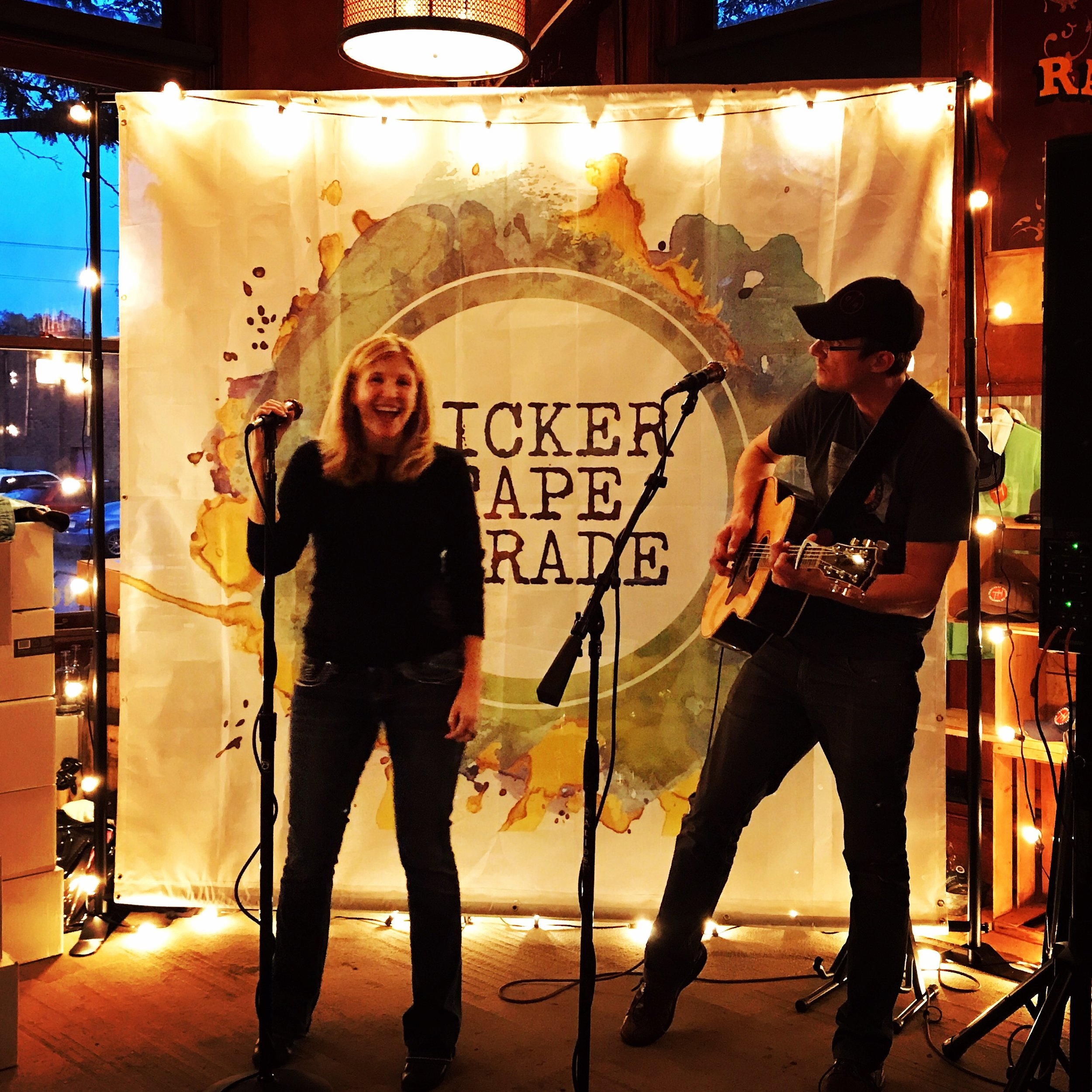 Great Voice + Great Guitar + Great Songs = Ticker Tape Parade - Click here to find out more.