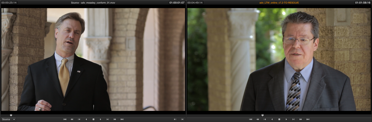 2-up Display in Resolve