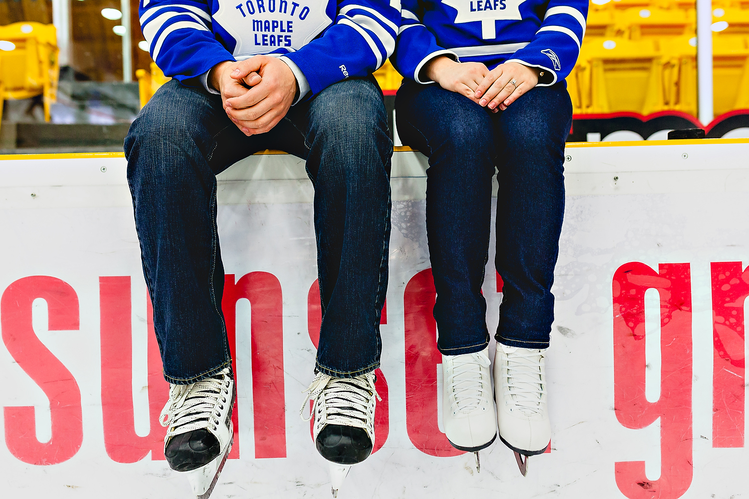 Toronto Engagement Photographer Hockey Theme