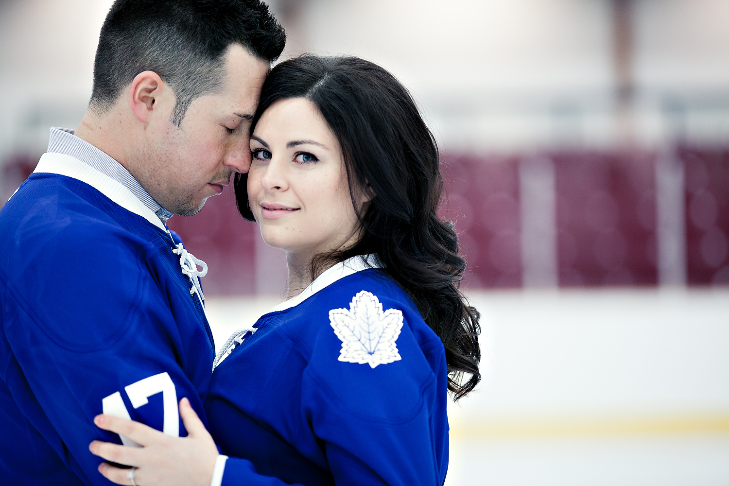 Toronto Wedding Photographer Cute Leafs Engagement