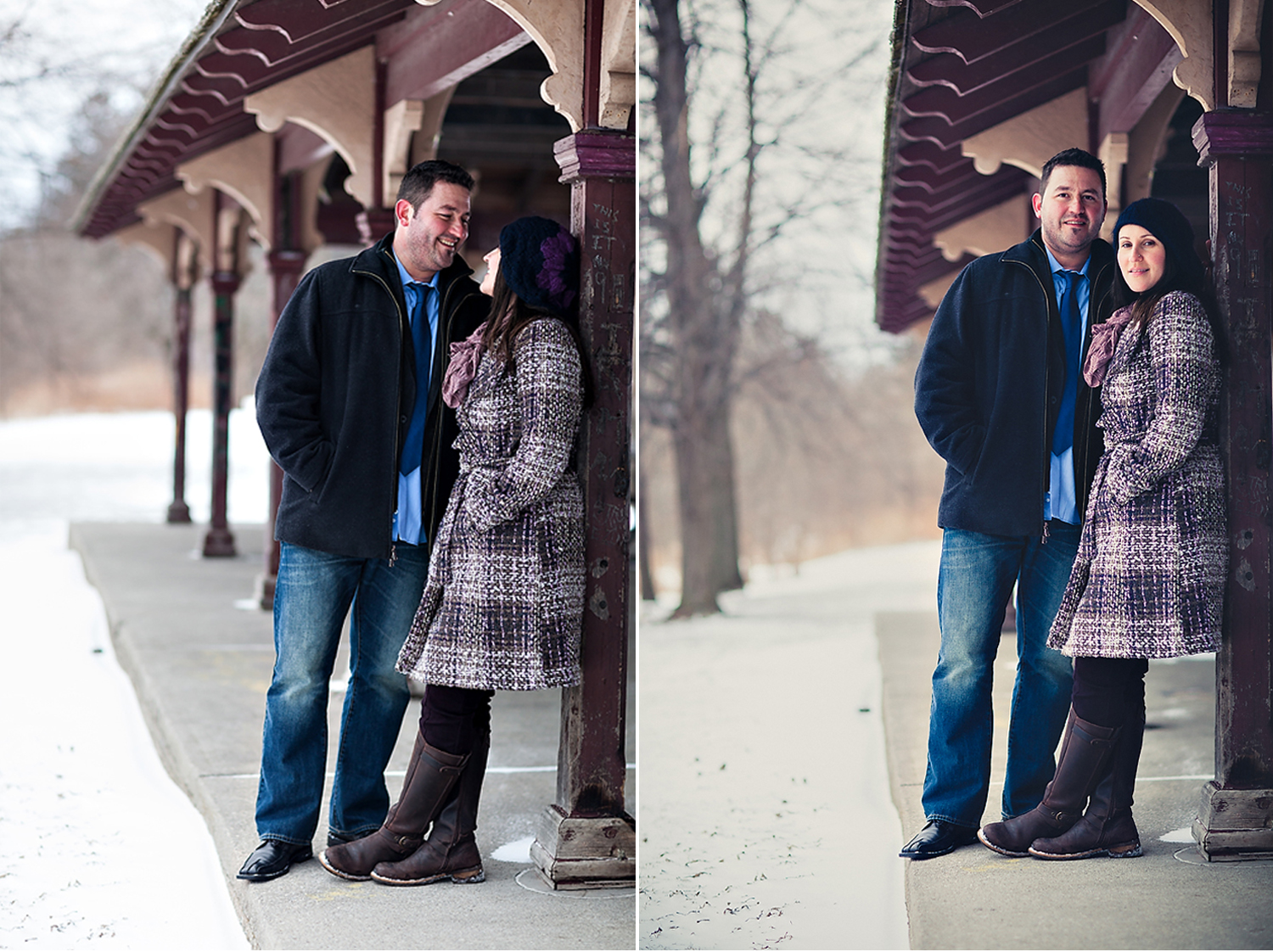 Toronto Engagement Photography Couple Winter