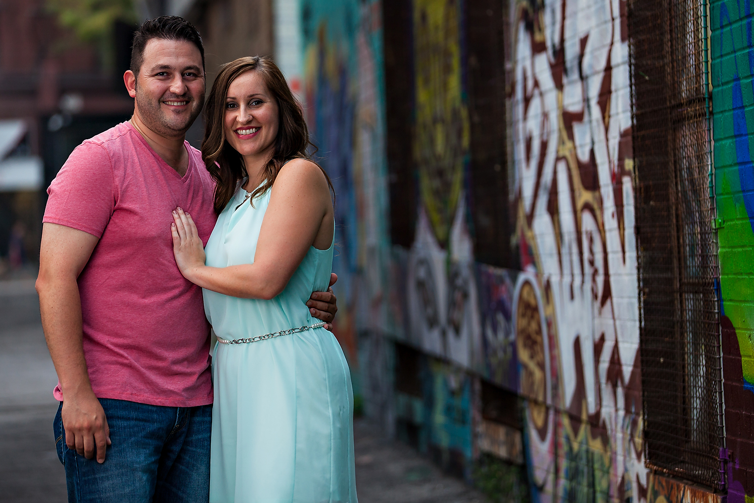 Toronto Engagement Photography Graffiti