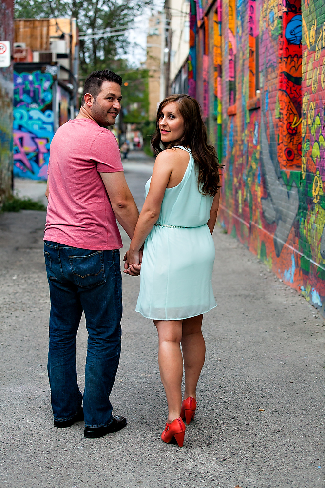 Queen St Toronto Engagement Photography