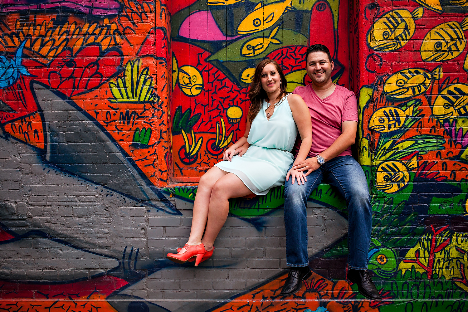 Toronto Engagement Photographer Graffiti