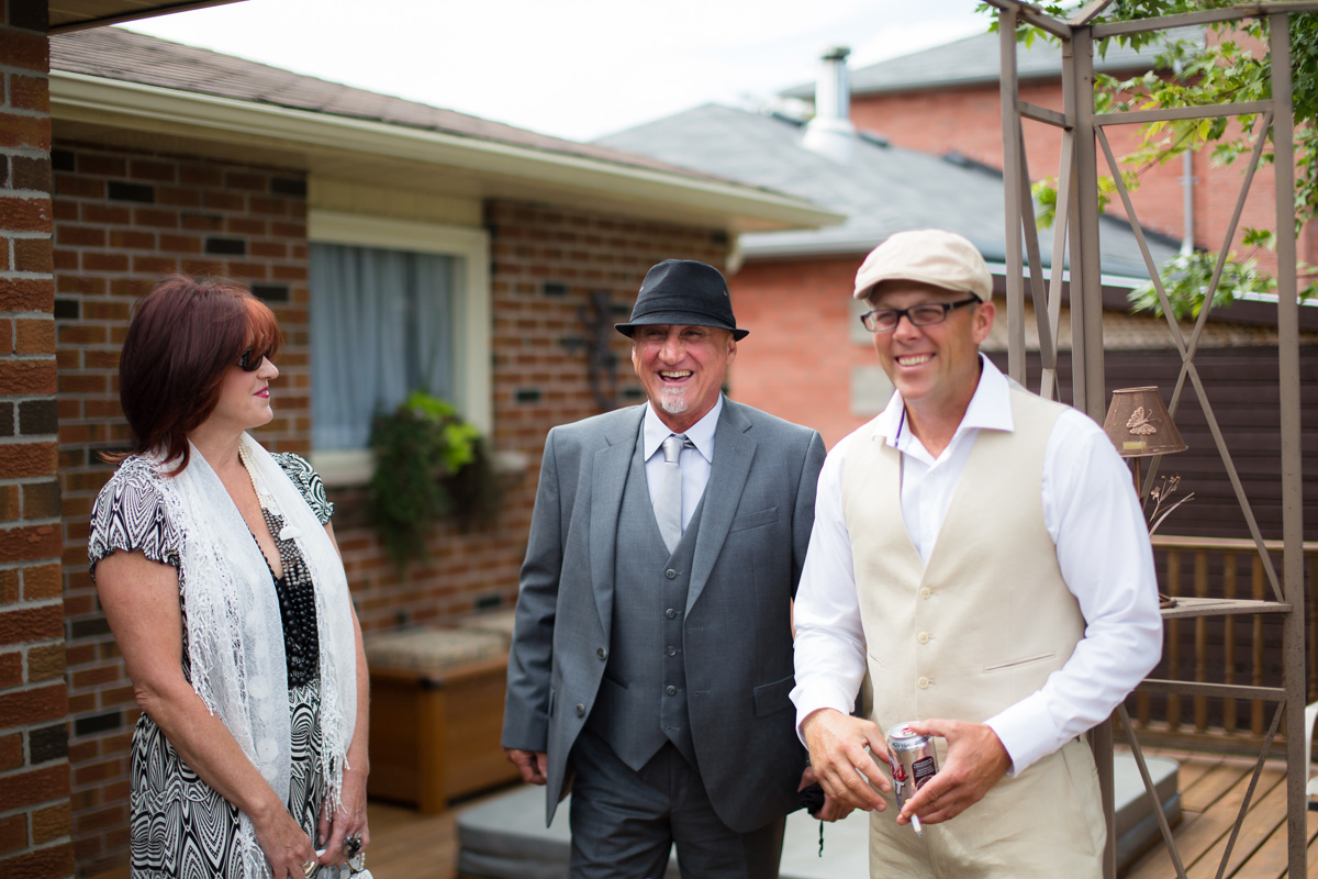 Toronto Backyard Wedding Guests