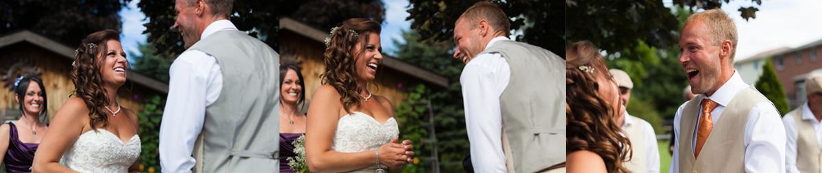 Beautiful Backyard Wedding Ceremony in Toronto