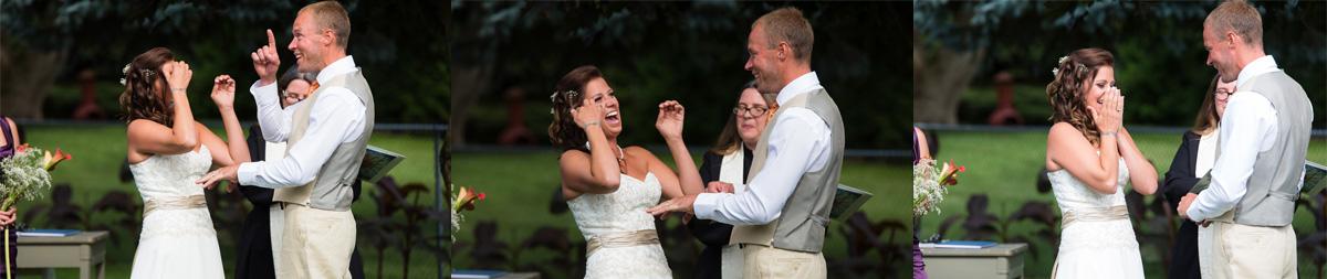 Backyard Wedding Ceremony in Toronto