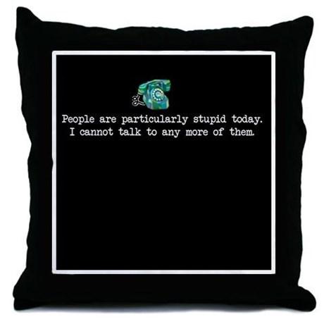 Grumpy Michel Pillow by CafePress