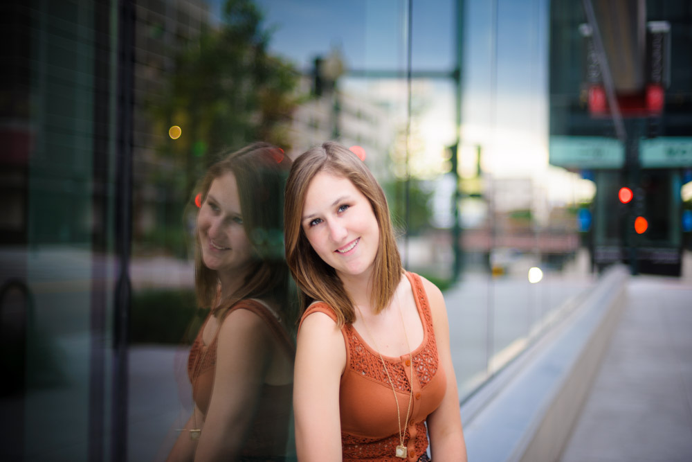 Urban senior portrait photography