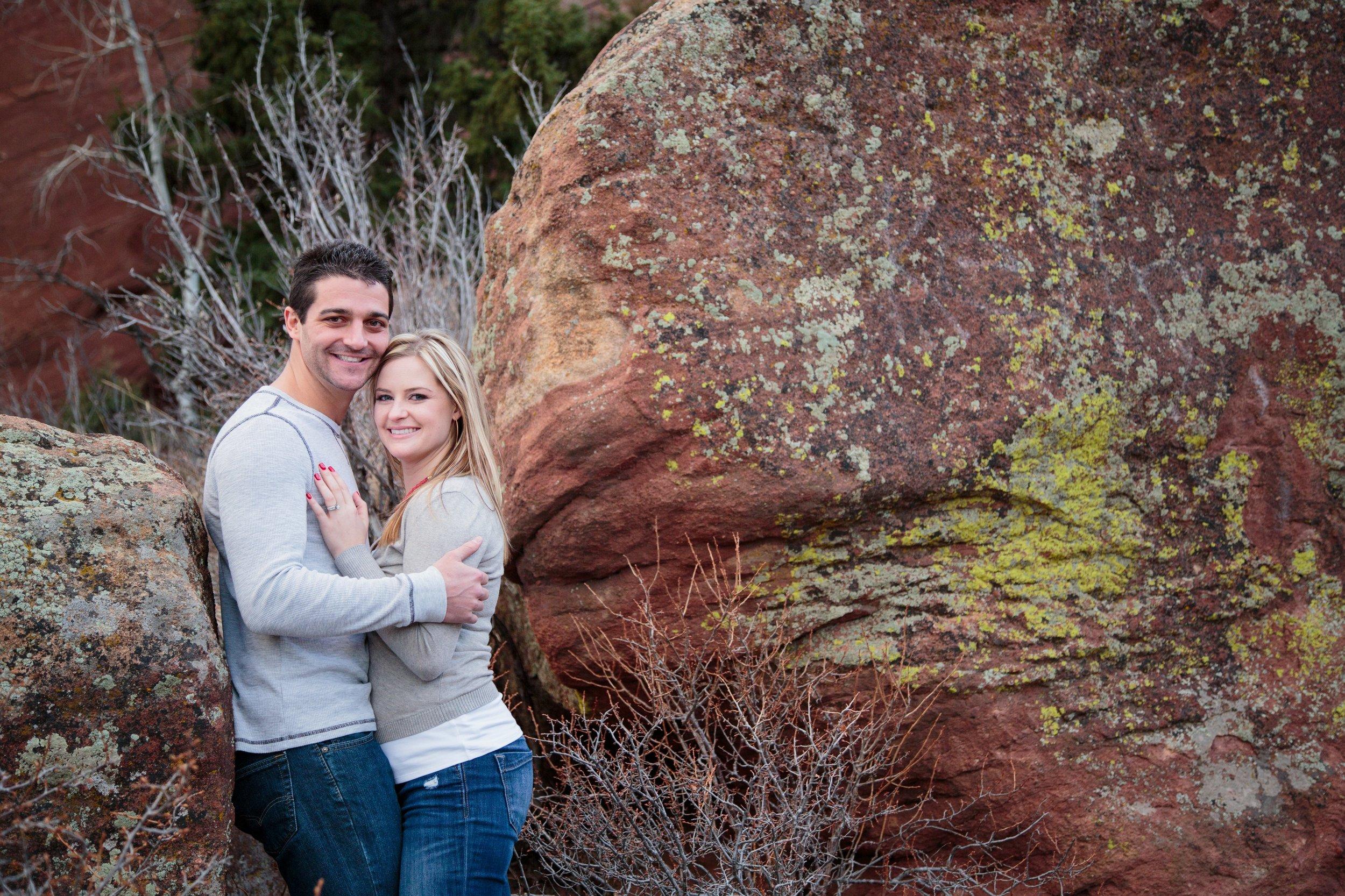 Between two boulders