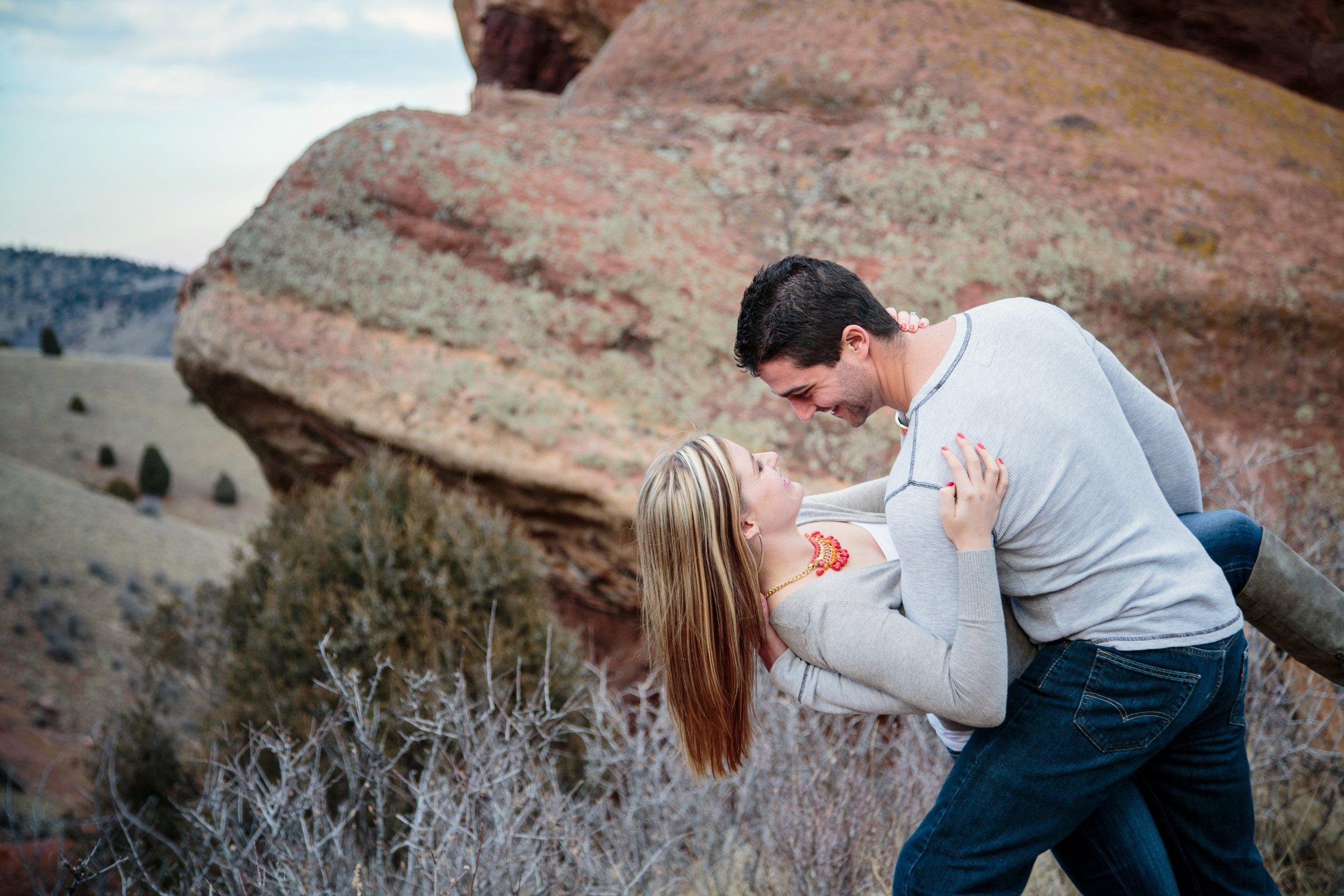 Romantic Dip on the Mountain