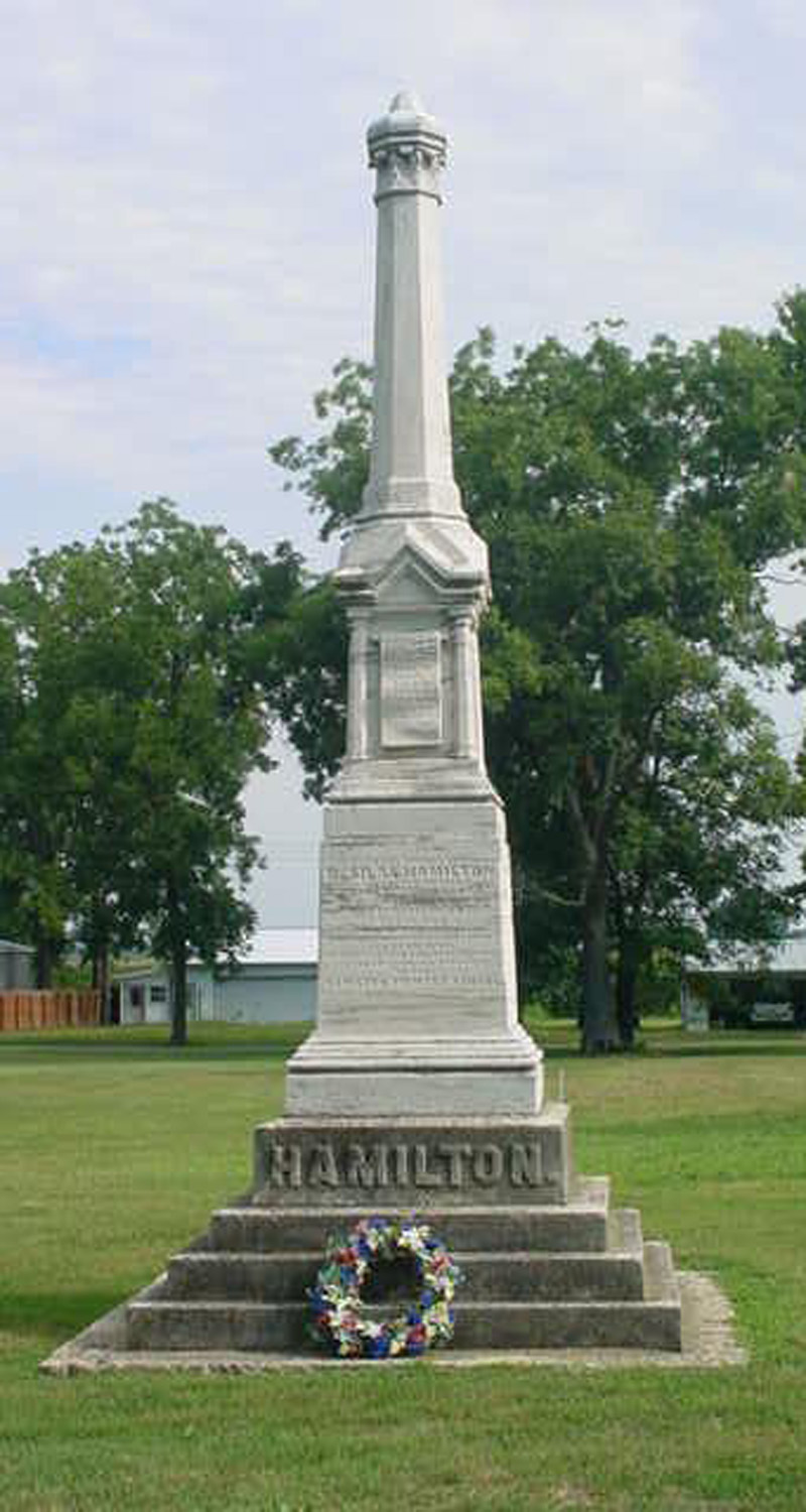 The monument was erected by a former slave, George Washington, to his former master Dr. Silas Hamilton, this is the only monument of its kind. No where in the world is there such a monument.