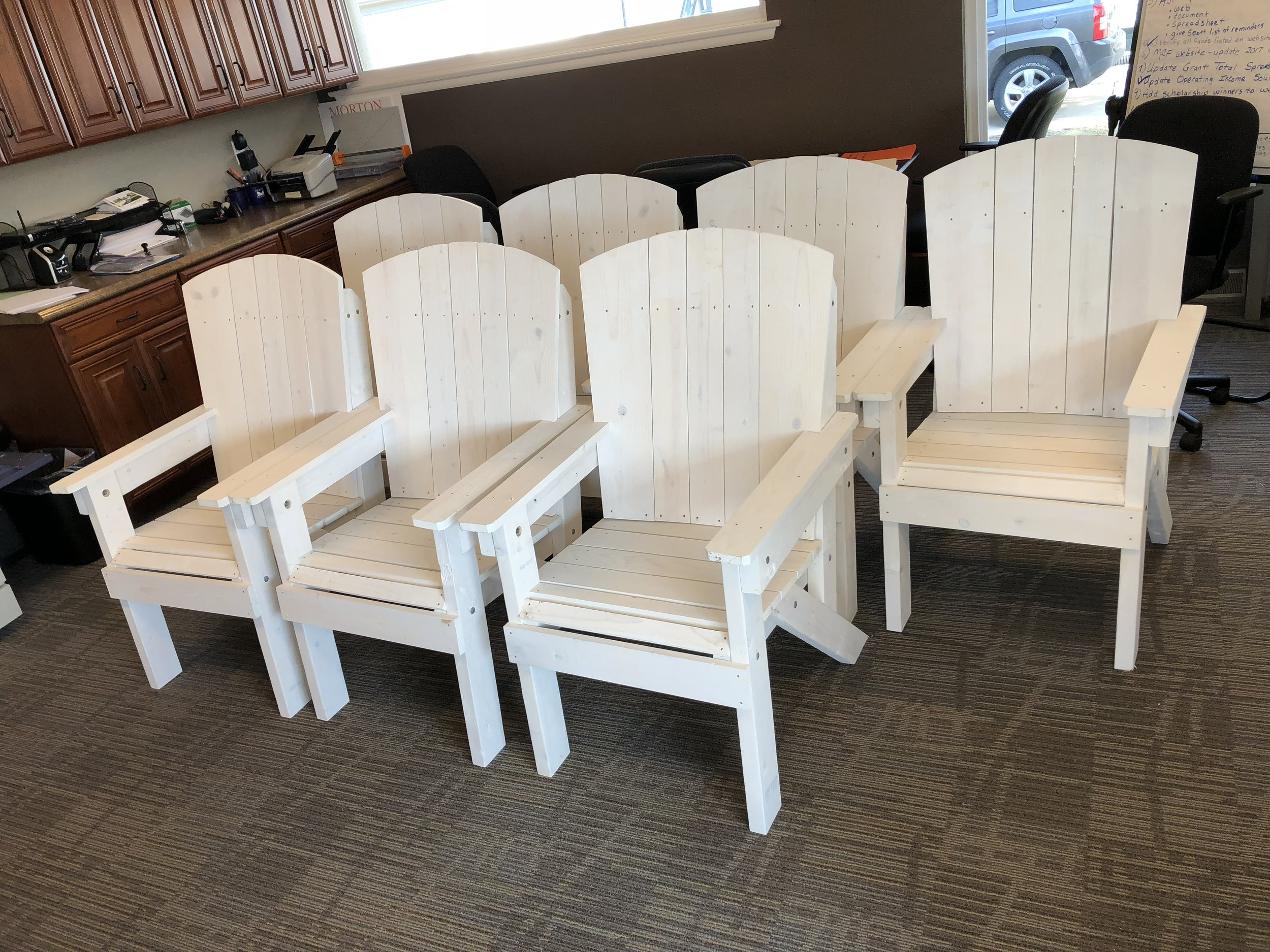 Completed Chairs in MCF Office