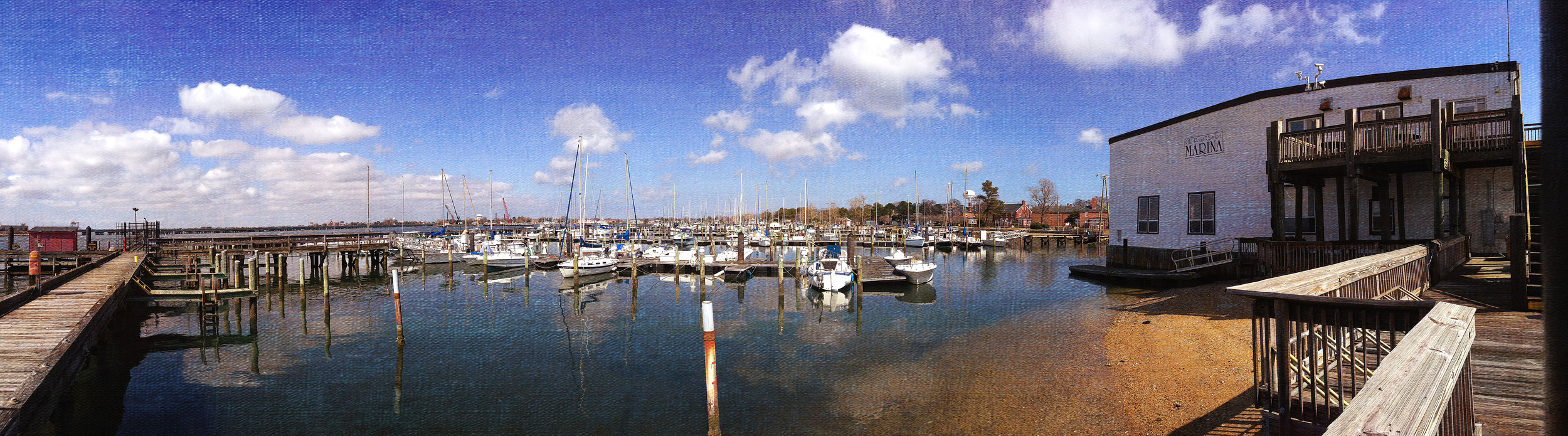 The marina at Fort Monroe.