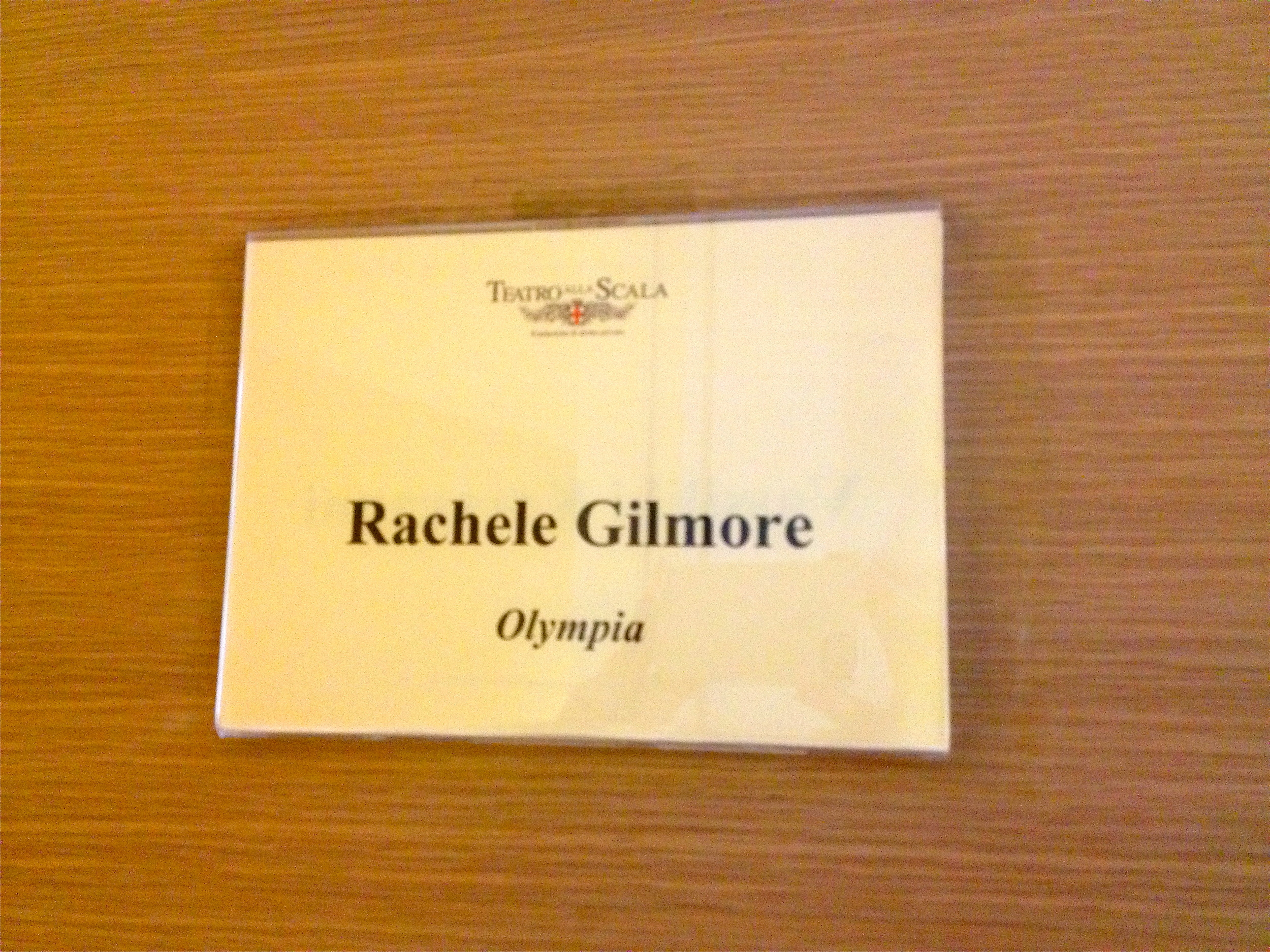 My name on a dressing Room at Scala!