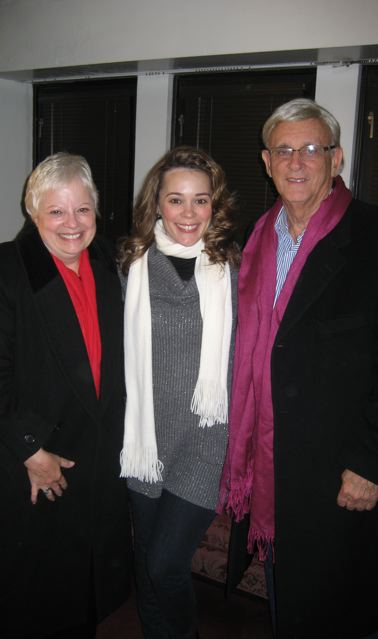 With my parents at my Met debut