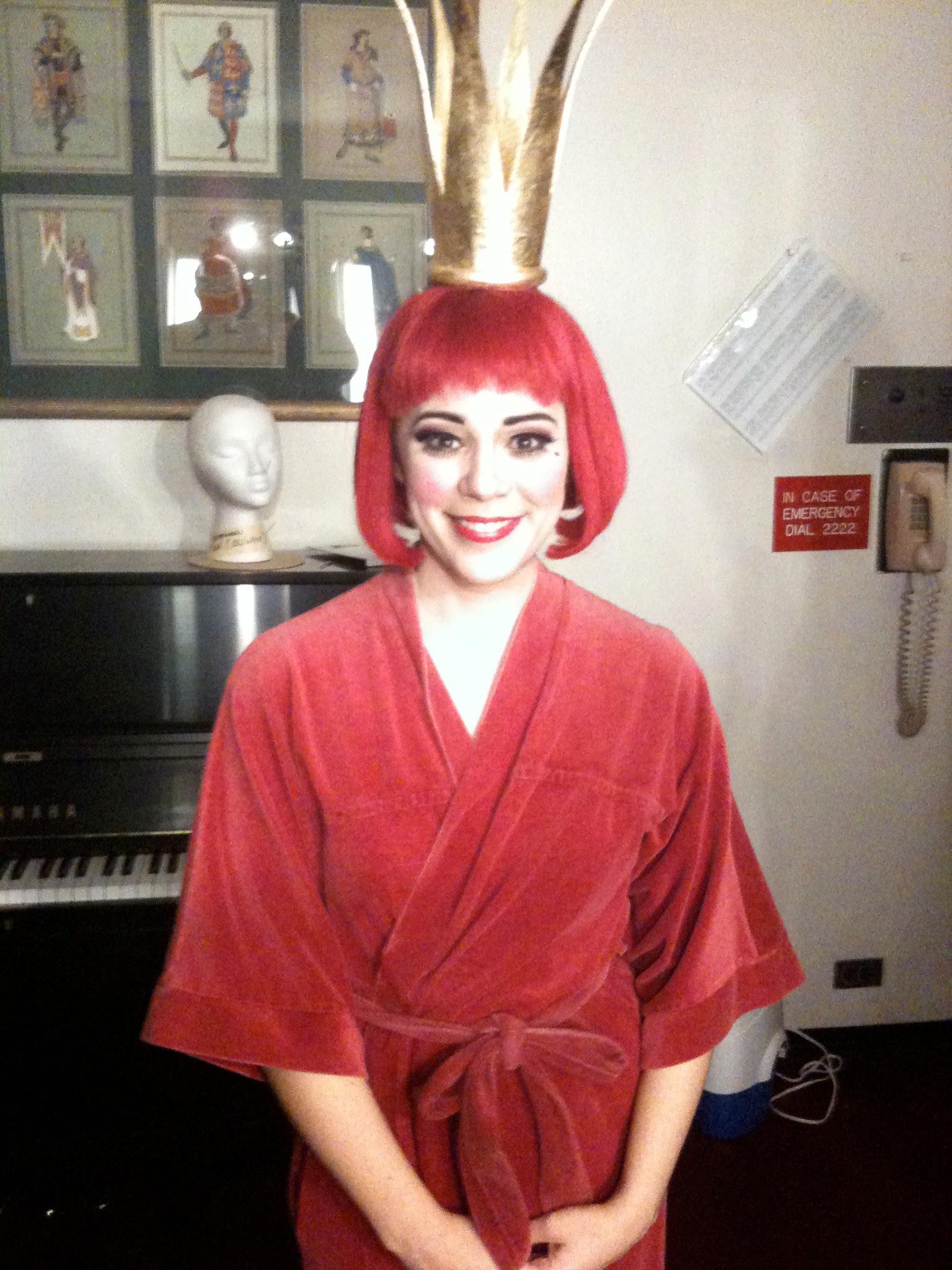 In my dressing room backstage for my Met debut