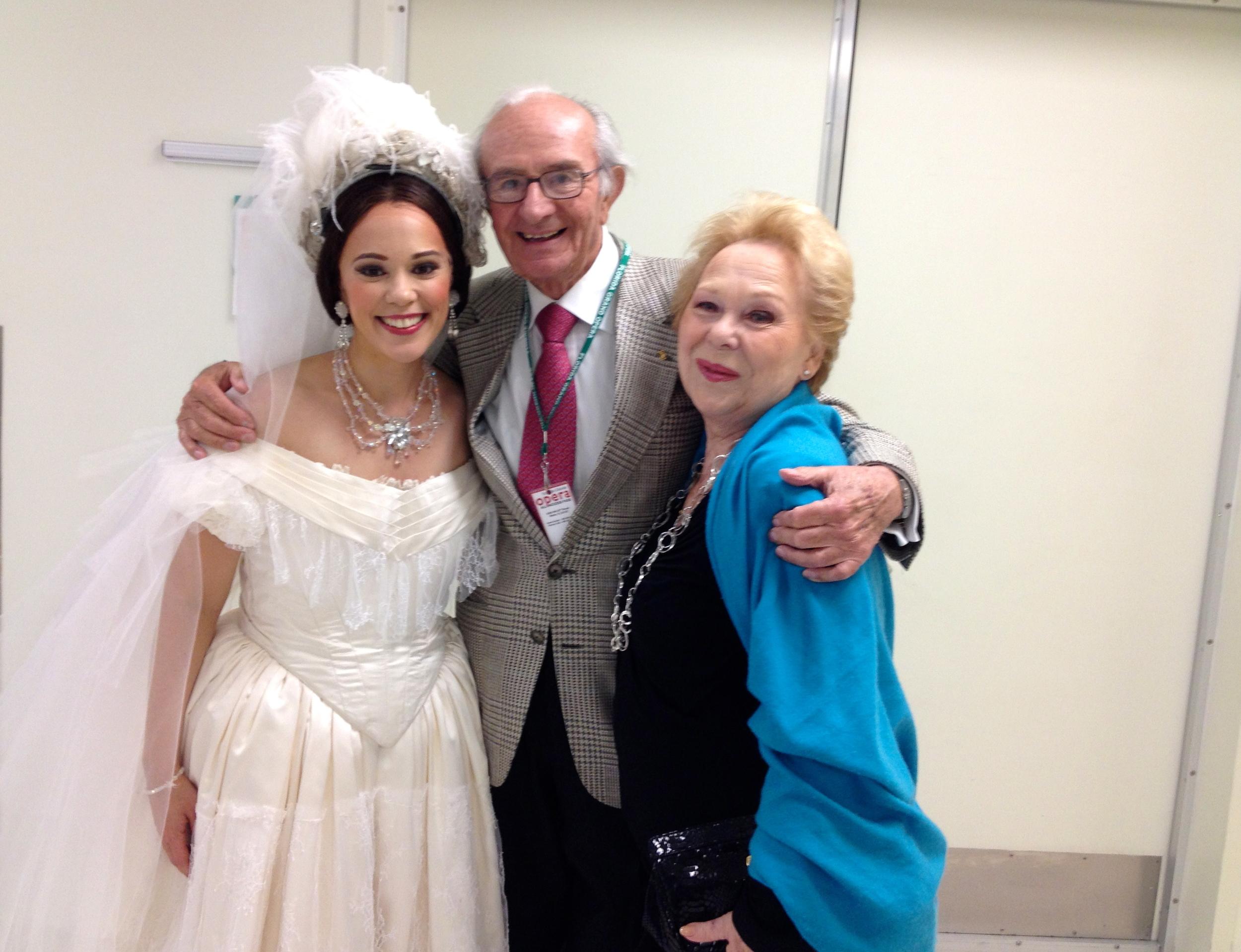 Backstage with Renata Scotto and Lorenzo Anselmi