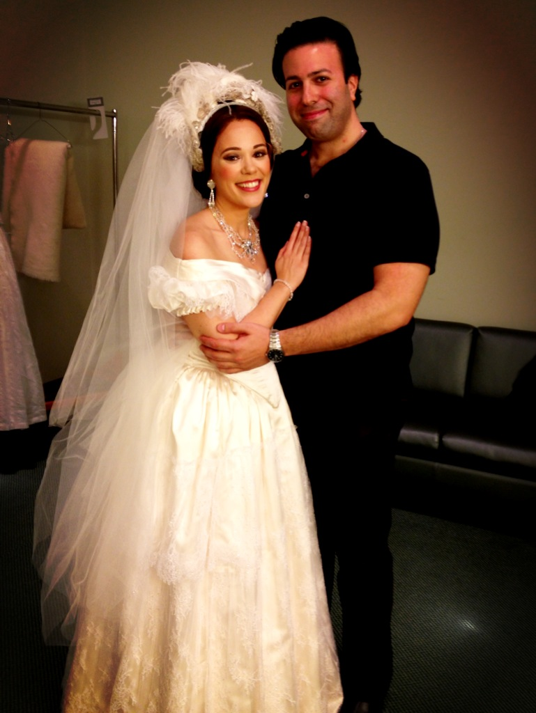With my real life husband backstage for Sonnambula