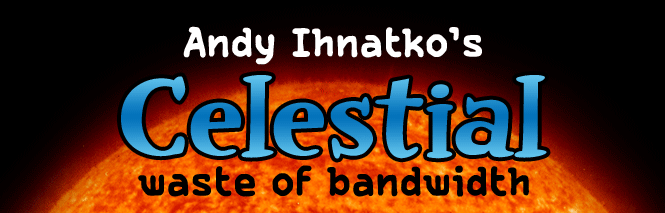 "Click photo to read original article on ""Celestial waste of bandwith"""