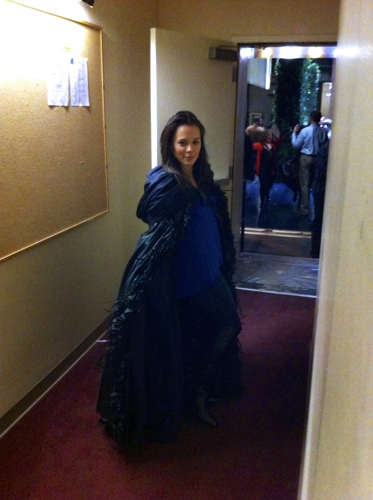 Backstage as Queen of the Night in Philadelphia
