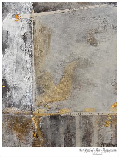 Mixed media on canvas.